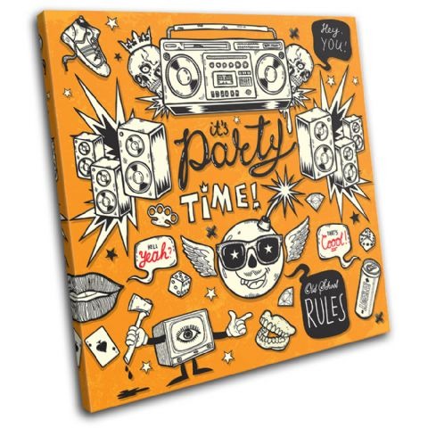 "It's Party Time"" Illustration - 13-0591(00B)-SG11-LO"